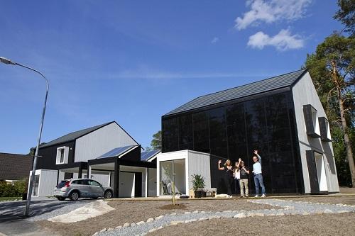 солнечный дом в Швеции