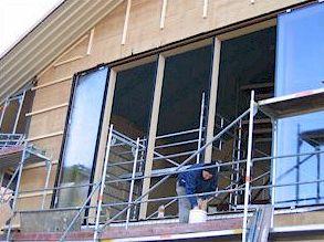 Монтаж окна пассивного отопления 1