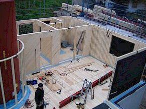 Деревянные панели - стены 1-го этажа
